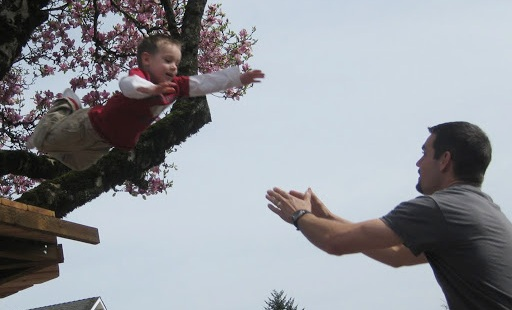 CHILD, JUMP, FATHER