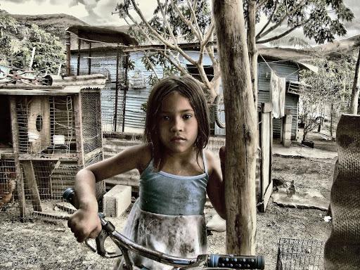 Poor girl in Venezuela - it