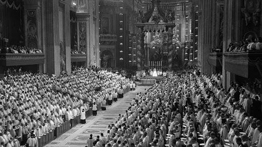 Concilio Vaticano II en la Basílica de San Pedro - it