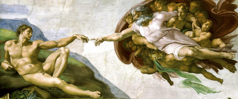 Sistine Chapel Paintings - The Creation of Adam - Michelangelo (1475–1564) - HERO-1440x600 - Public Domain