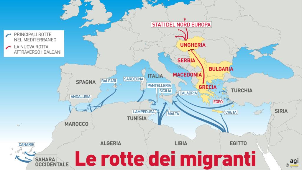 Rotte migranti