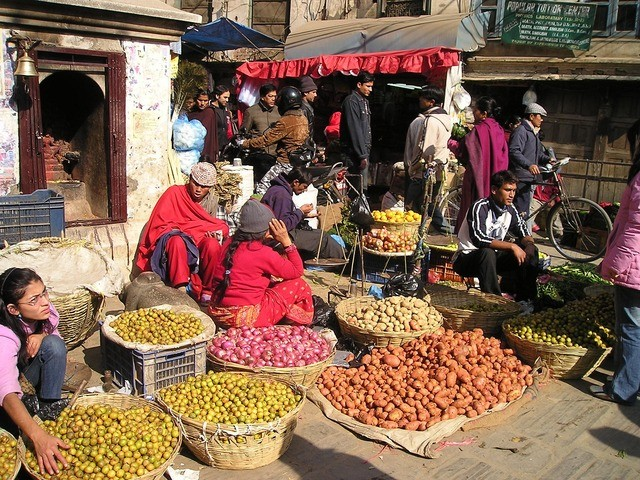 Nepalepal Street Market Fruit Vegetables, street Vendor