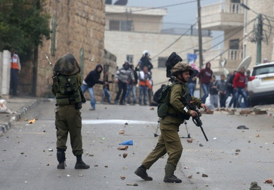 Protest against Israeli violations on Palestinians in Ramallah