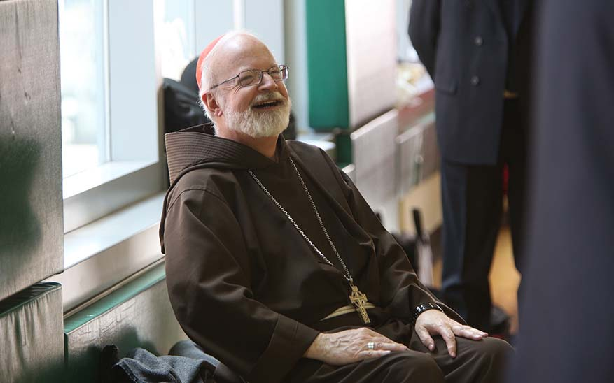 Cardinal O'Malley laught
