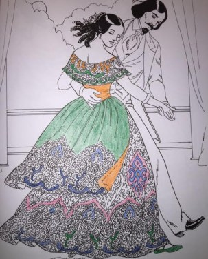 coloring-dancing