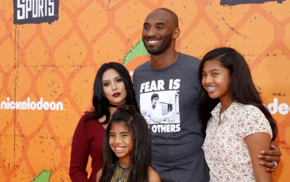 Kobe Bryant e famiglia. Foto: Bigstock