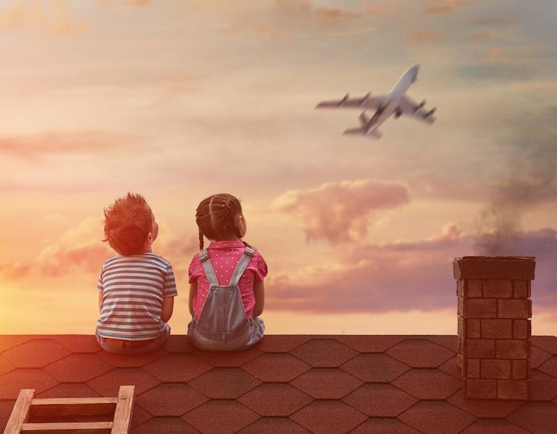 dream plane child sogni