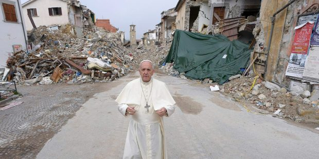 Pope Francis, Amatrice, earthquake,