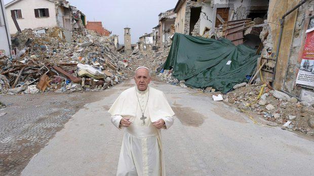 Pope Francis, Amatrice, earthquake,
