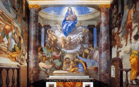 Daniele da VOLTERRA, Assunzione della Vergine, ca. 1555, affresco, Santissima Trinità dei Monti, Roma