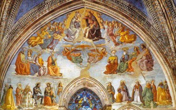 GHIRLANDAIO, Incoronazione della Vergine, 1486-90, affresco, Santa Maria Novella, Firenze