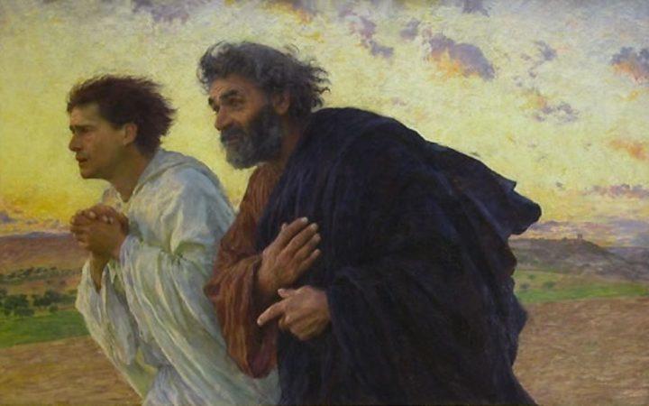 BURNAND, Pietro e Giovanni accorrono al sepolcro la mattina della Resurrezione, 1898, olio su tela, Musée d'Orsay, Paris