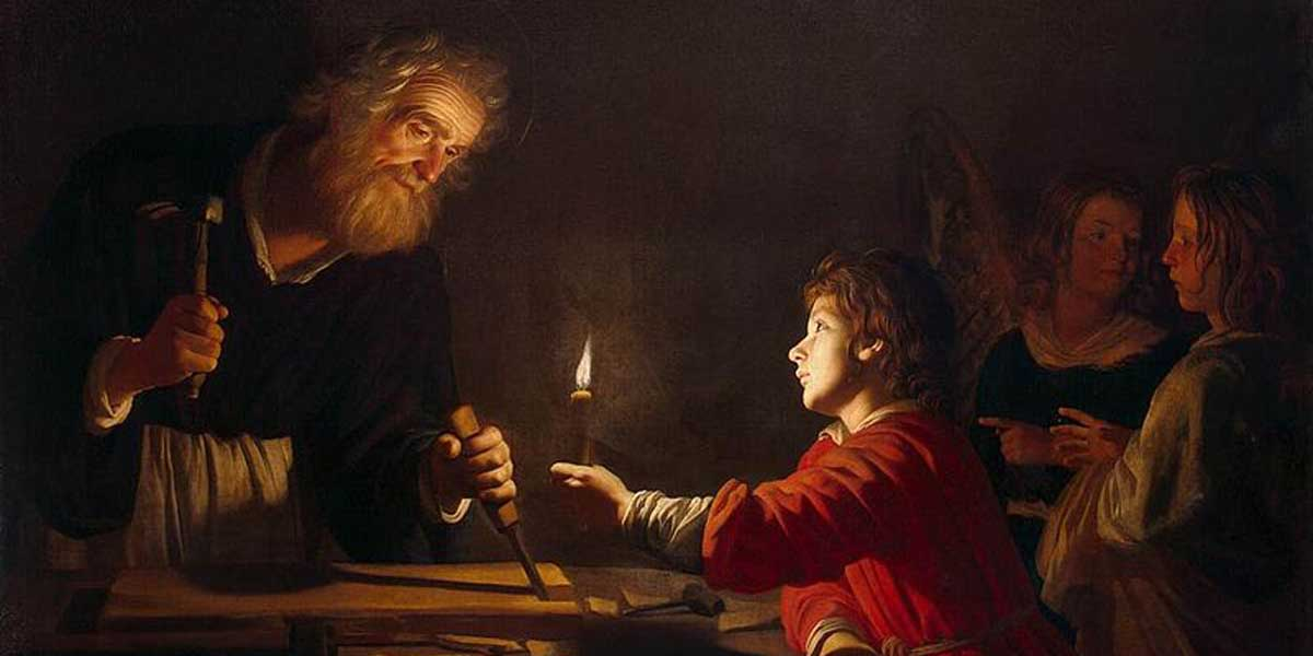 ST JOSEPH,THE WORKER CARPENTER, JESUS,CHILDHOOD OF CHRIST