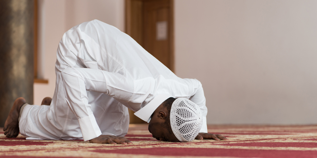 MUSLIM,PRAYER,PROSTRATE