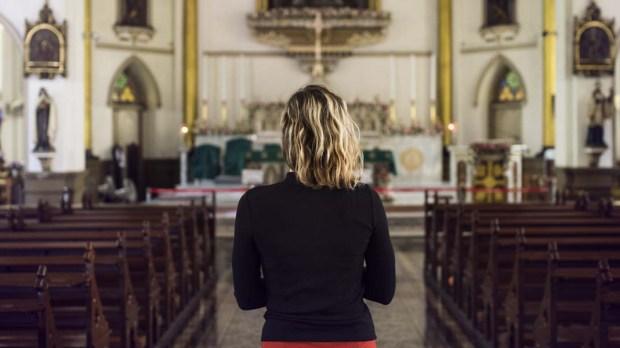 WOMAN,CHURCH,MASS