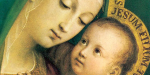 Maria e Jesus no colo