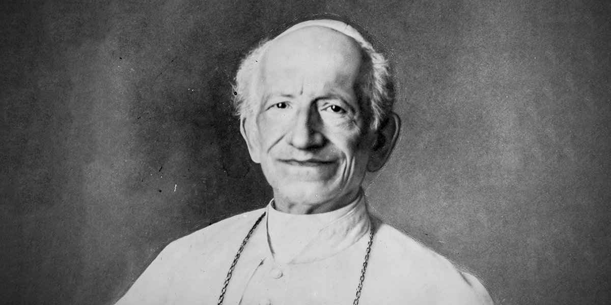 Portrait of Pope Leo XIII.