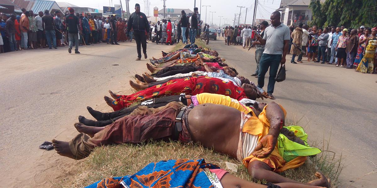 Nigeria Omoku new year shot