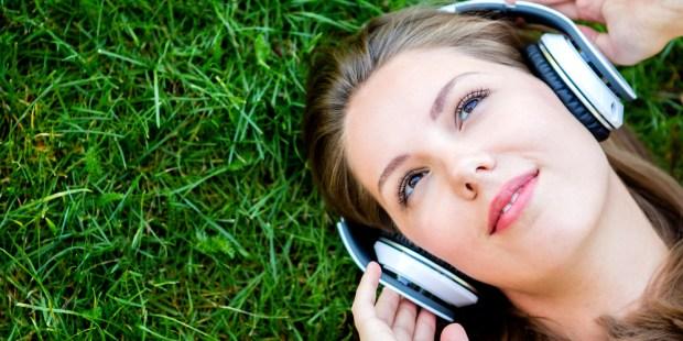 WOMAN, MUSIC, GRASS