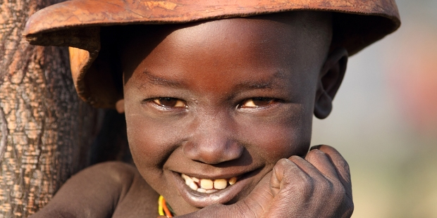 HAPPY AFRICAN LITTLE BOY