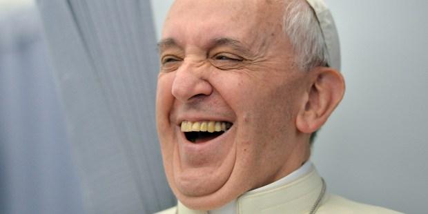 POPE LAUGH