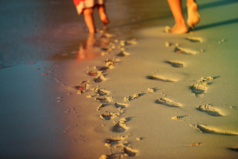 WALK; TOGETHER; BEACH