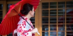 JAPAN, WOMAN, UMBRELLA