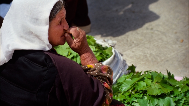 OLD WOMAN, JERUSALEM, SELLING