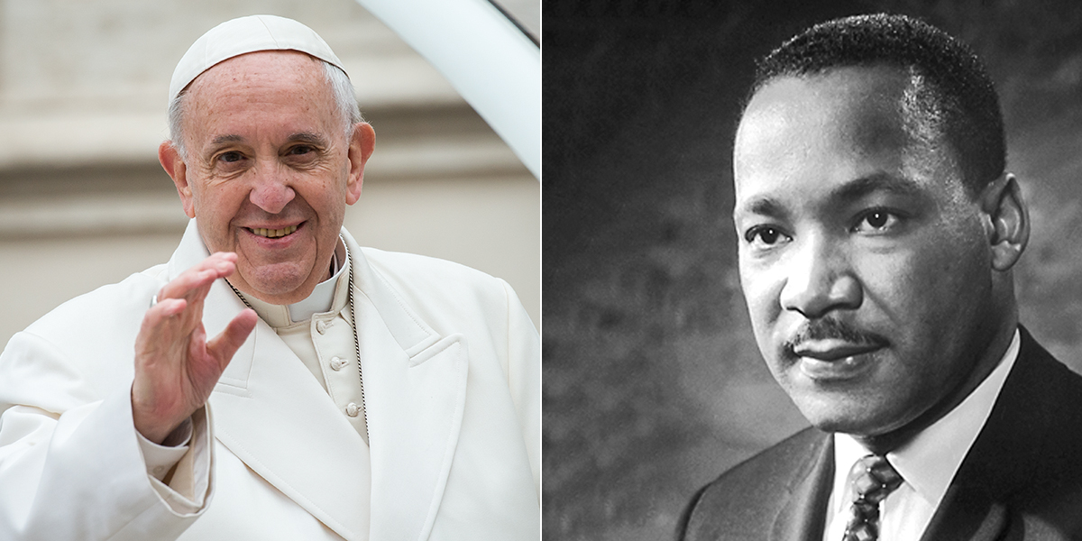POPE FRANCIS - MARTIN LUTHER KING JR.