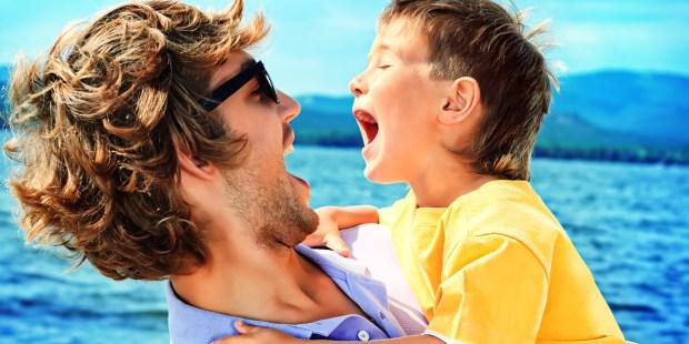 BOY WITH DAD