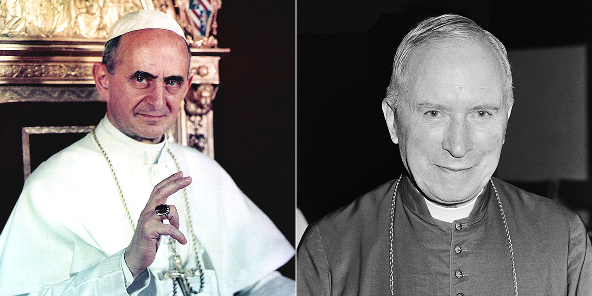 POPE PAUL VI AND REVEREND MARCEL-FRANÇOIS LEFEBVRE