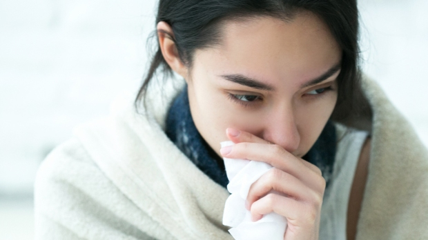 WOMAN,SICK,FLU