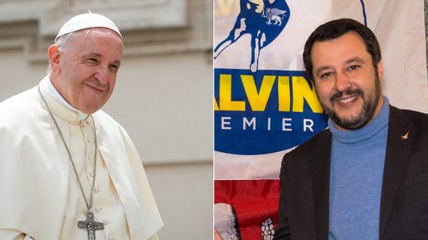 POPE FRANCIS PM MATTEO SALVINI