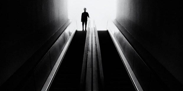 MAN,DARKNESS,STAIRS