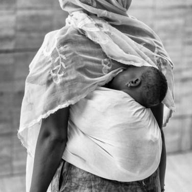 MADRE, AFRICANA, BAMBINO