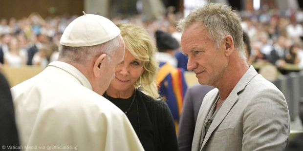 STING,POPE FRANCIS