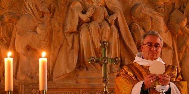 PRIEST CELEBRATING