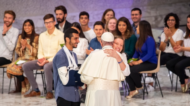 POPE FRANCIS MEETING YOUTH