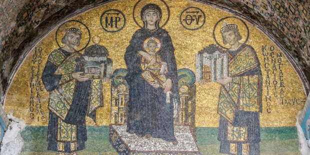 BYZANTINE MOSAIC; HAGIA SOPHIA