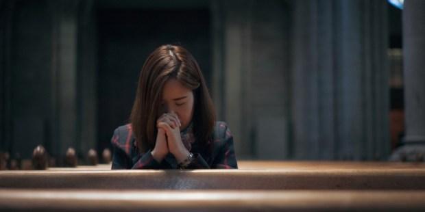 WOMAN PRAY