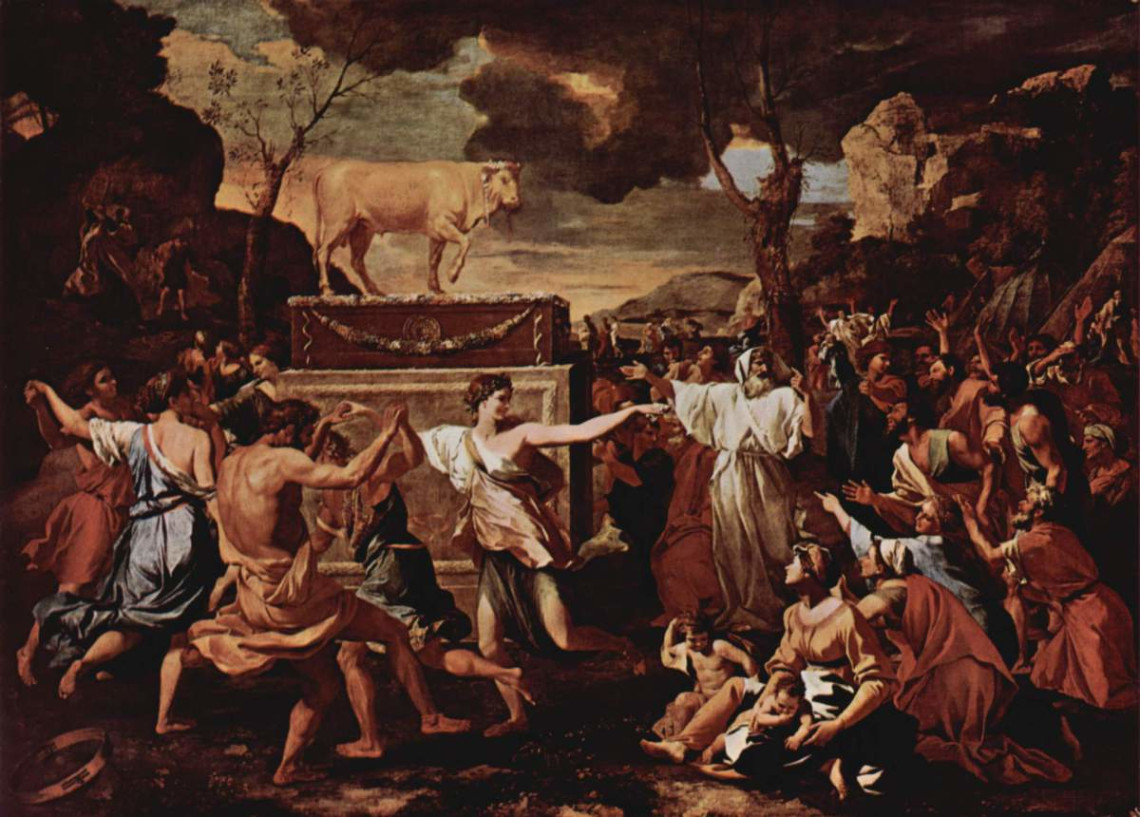 idolatry; Nicolas Poussin; paint;