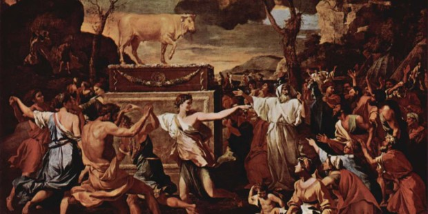 idolatry; Nicolas Poussin; paint;