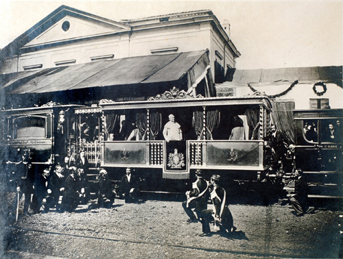 POPE PIUS IX; PAPAL TRAIN