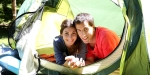 COUPLE IN CAMP TENT