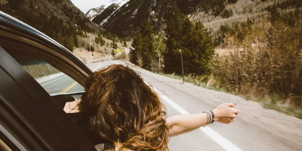 GIRL, CAR, HAIR