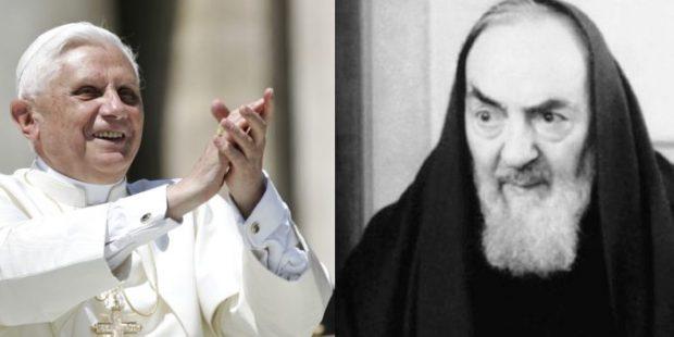 benedetto XVI, san pio da pietrelcina,