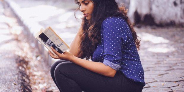 GIRL, BOOK, STREET
