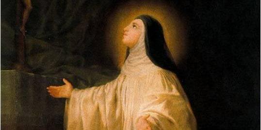 saint lutgarda, souls of purgatory,