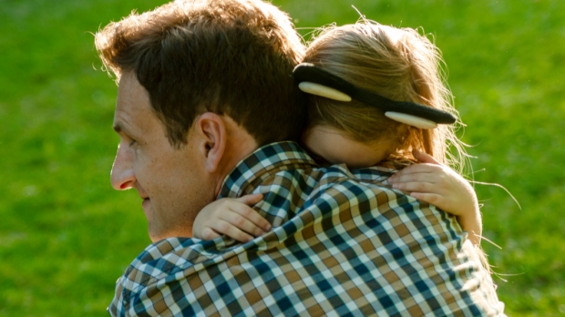 GIRL, HUG, DAD