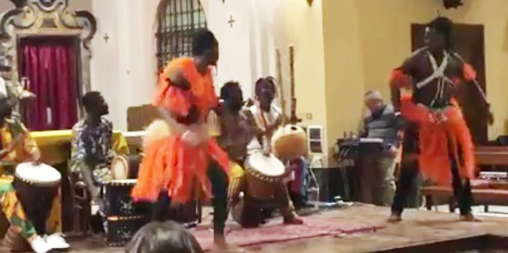 dance, dancing, church,